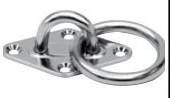 Augplatten / Augplatten mit Ring Edelstahl A2