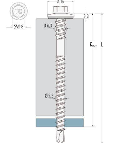 Bohrschrauben Edelstahl auf Stahl bis zu 6 mm