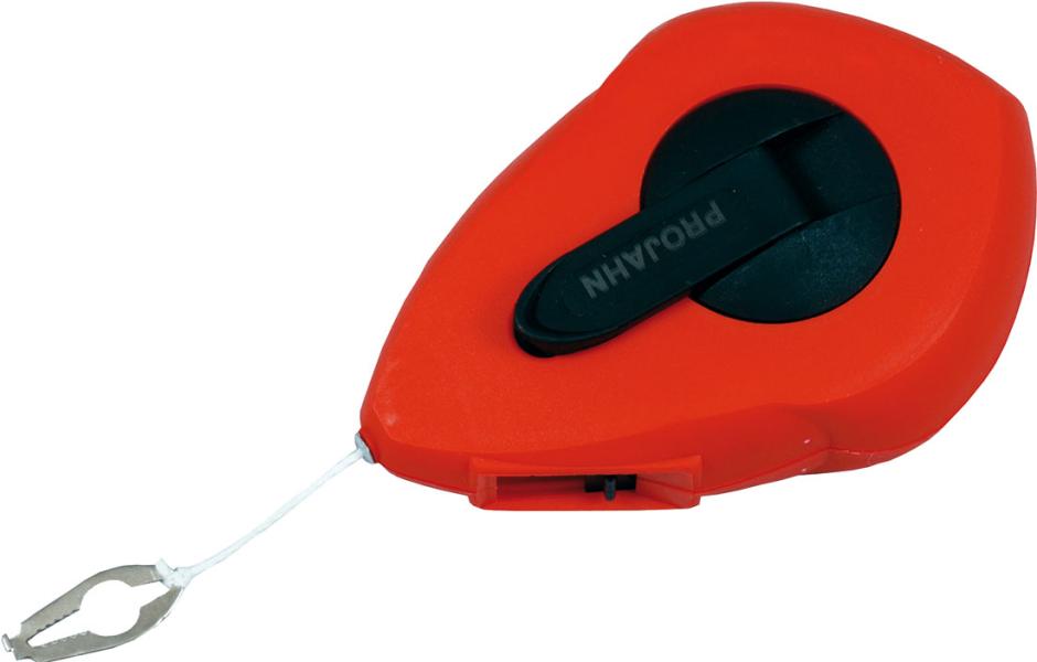 Schlagschnurgerät und Farbpulver rot / blau Schnippschnur