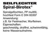 Birotex Spiral Seil schwimmfähig