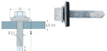 Fassadenbohrschrauben A2 in Stahl bis 6 mm