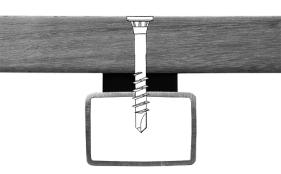 Profila Terrassenbohrschrauben auf Stahl o. Alu