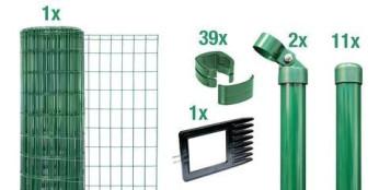 Zaun Set Schweißgitter grün + anthrazit