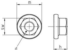 Sperrzahnmuttern ähnlich DIN 6923 galv. verzinkt mit gezahntem Flansch