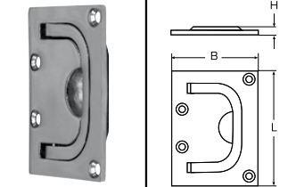 Bodenheber Edelstahl A4 Feinguss poliert 76 mm x 56 mm Stück