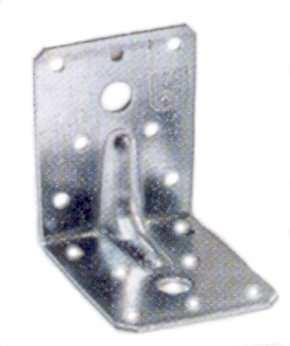 Winkelverbinder 90 x 90 x 65 verzinkt mit Steg Stück