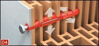 Tox Bizep – Dübel speziell für Lochziegel 10 / 90 100 Stück