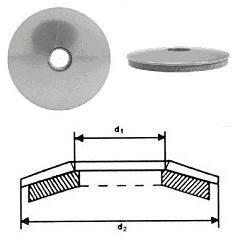 Dichtscheiben verzinkt Durchmesser 22 x 6,4 100 Stück