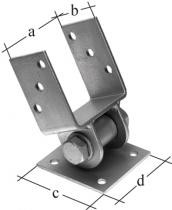 Pfostenträger mit beweglichem Oberteil feuerverzinkt 71 MM