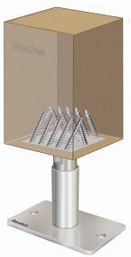 Stützenfuß PediX 190+100 mm mit Schrauben, Unterlagepads und Zulassung
