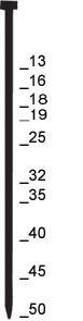 Prebena Stauchkopfnägel Brads verzinkt J 25 CNKHA 5000 Stück