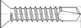 Bohrschrauben DIN 7504 O Senkkopf TX Stern verzinkt 4,8 x 38   100 Stk