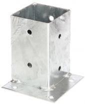 Aufschraubbodenhülse für Ecken 71x71mm feuerverzinkt 1 Stück