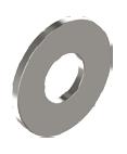 10,5 Unterlegscheiben DIN 9021  Edelstahl A2 10 Stück