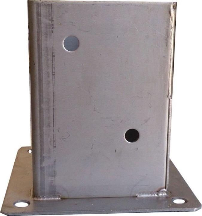 Edelstahl Pfostenhülsen A2 101 x 101 Stück