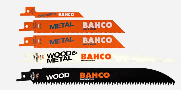 Säbelsägeblätter-Satz für Holz und Metall - 5-teilig 3940-MIX-SET-5P Bahco Elektro-Fuchsschwanzsägeblätter