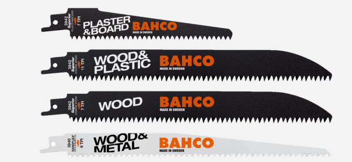 Säbelsägeblätter-Satz für Holz - 5-teilig Bahco 3942-Wood-Set-5P Fuchsschwanzsägeblätter