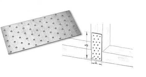 40 x 120 x 2,0 Lochplatten galv.-verzinkt Stück
