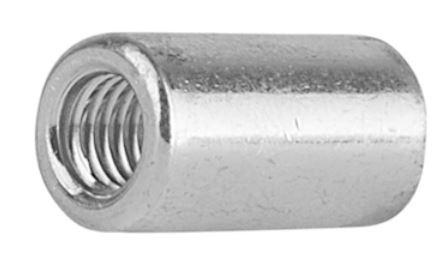 M 10 x 20 Verbindungsmuffen Distanzmuttern rund verzinkt 1 Stück