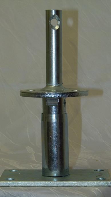 Stützenfuß auf Beton höhenverstellbar mit Dorn 24 mm