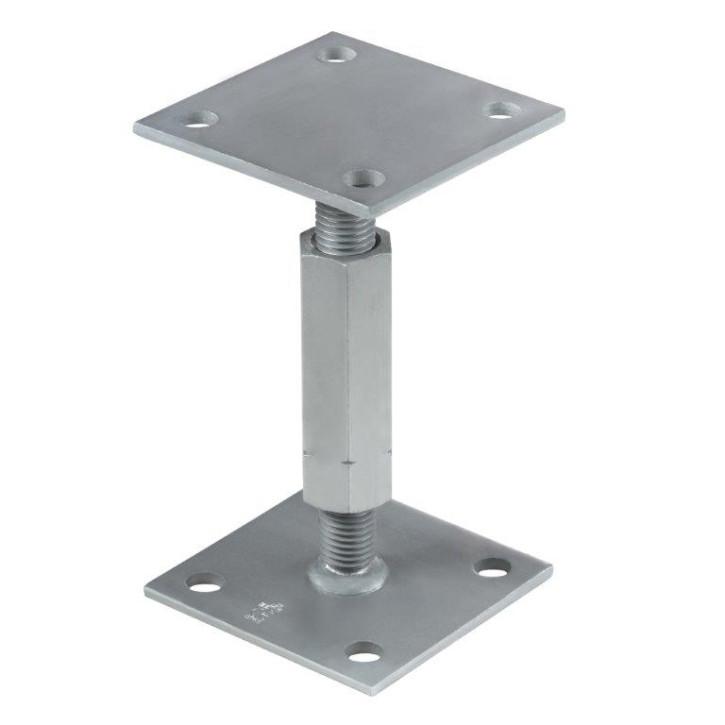 Verstellbare Pfostenträger auf Beton 80x80x130/180