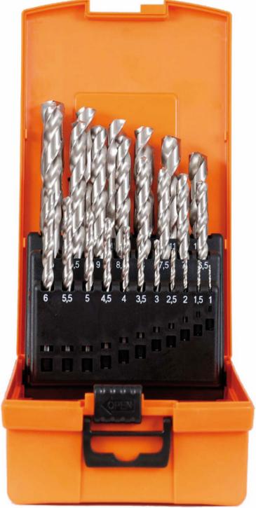 Spiralbohrer-Kassette HSS-G ECO 25-tlg. Metallbohrer