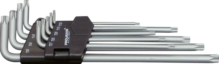 Ptojahn 3607 Winkelstiftschlüsselsatz extra lange Form für Innen-TX-Schrauben T10-T50 9-tlg.