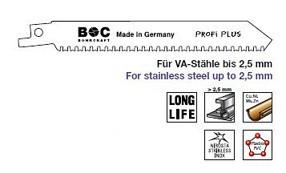 Spezial Säbelsägeblatt für Metall und Edelstahl bis 2,5 mm Länge 130mm 5 Stück