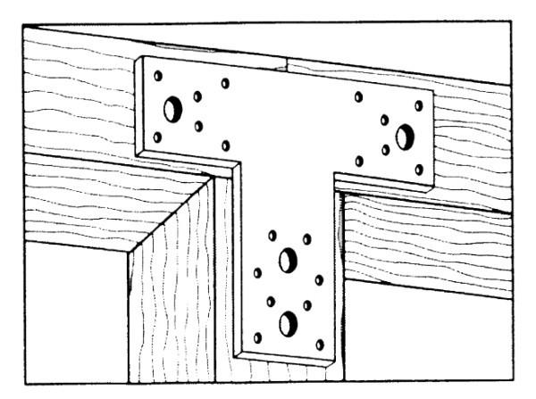 T-Flachverbinder 160x98x45