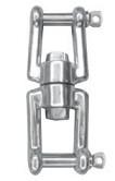 Wirbel Edelstahl A4 Gabel / Gabel 6 mm Stück