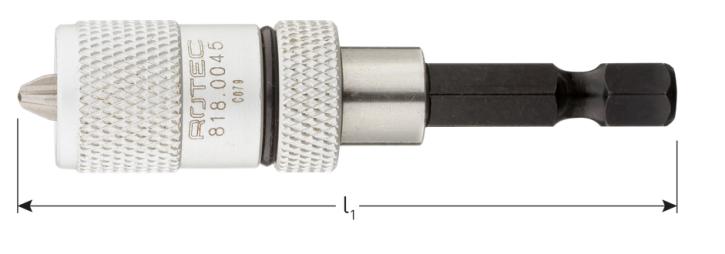 Bit-Magnethalter + 1 Bit PH 2 einstellbar für Schnellbauschraube