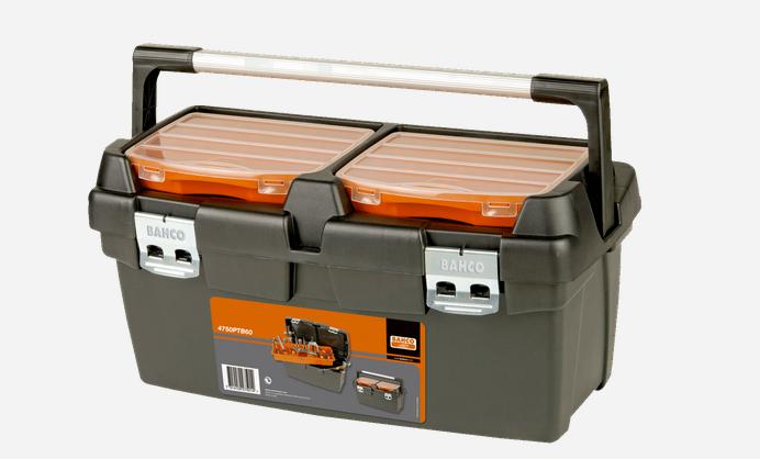 Bahco robuste Kunststoff-Werkzeugboxen, 600 mm ohne Inhalt