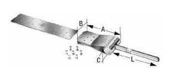 BNWA Simpson Strong Tie zum Anschluß einer Diagonalen an Windrispenband