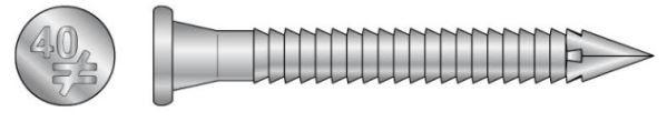 Simpson CNA 4 x 50S Ankernägel Kammnägel (H-Rillennägel) Edelstahl A4 250 Stück
