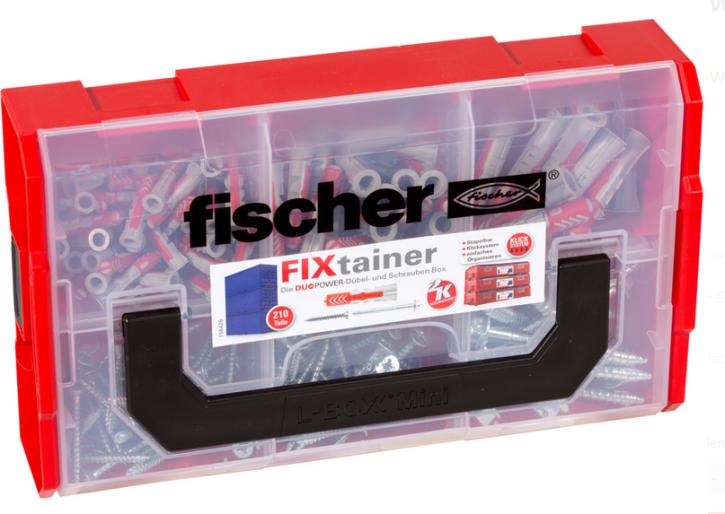 fischer FixTainer - DuoPower mit Schraube (210Teile) Sortimentbox