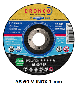 Trennscheiben evolution AS60V 1,0 mm x 115