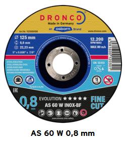 Trennscheiben evolution AS 60 W  0,8 mm x 115