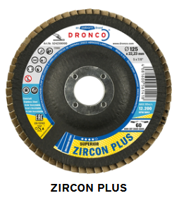 Fächerschleifscheibe Zirkon plus 125 x 22,23 Korn 60
