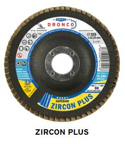 Fächerschleifscheibe Zirkon plus 125 x 22,23 Korn 40