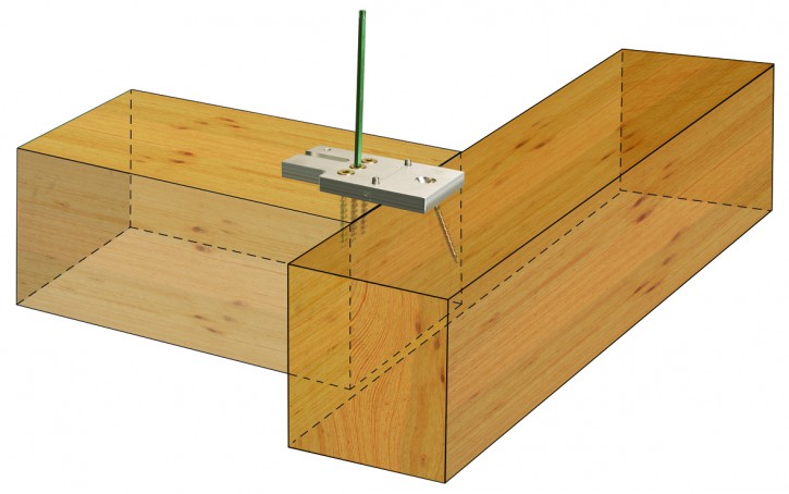 KonstruX Holzschraube Vollgewinde und Bohrspitze 8 x 195