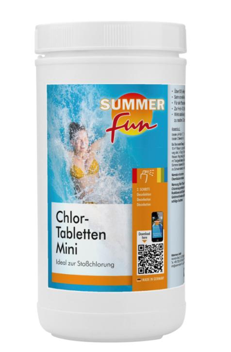 Chlor- Tabletten Mini 1,2 kg Dose Schnellchlor
