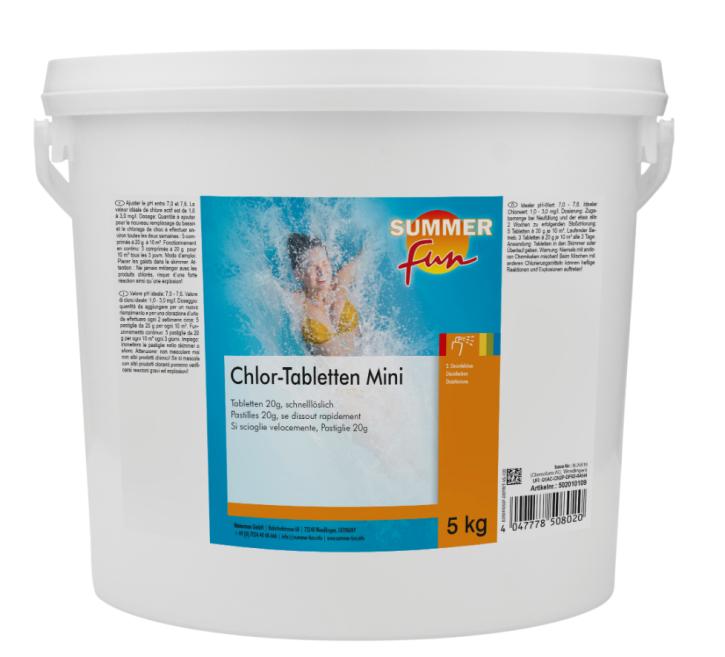 Chlor- Tabletten Mini 5 kg Eimer Schnellchlor