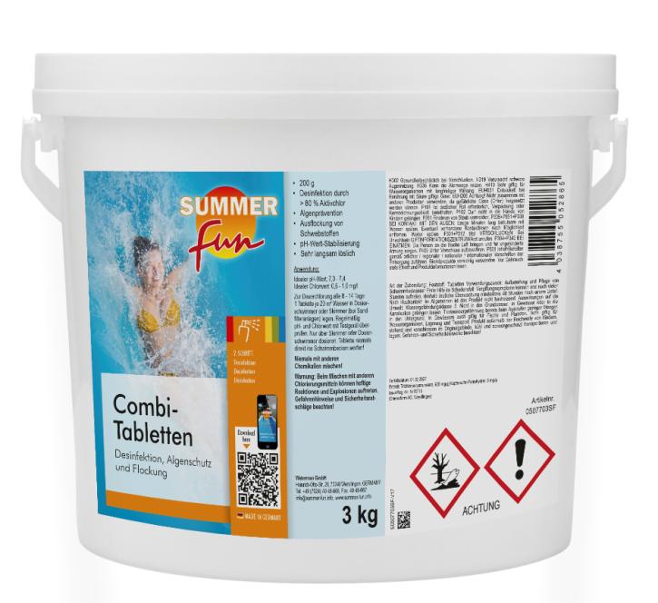 Combi-Tabletten à 200 g Multitabs 3 kg Eimer