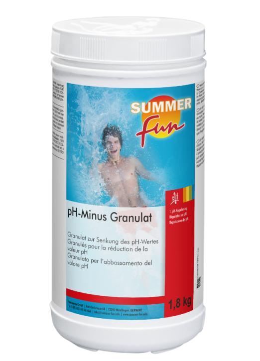 PH - Minus  1,8 kg Dose PH - Wert Senker