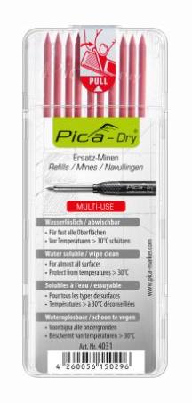 Pica Dry Ersatzminen 4031 rot für alle Oberflächen 10Stück