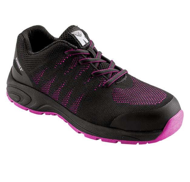 GirlStar 5180 Sicherheitshalbschuhe Runnex S1P schwarz/pink Größe 35-42 Weite 7 Form A