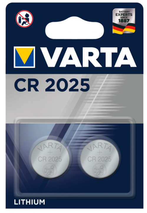 VARTA Knopfzelle CR2025 Blister 2 STK