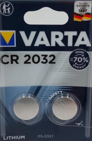 VARTA Knopfzelle CR2032 Blister 2 STK