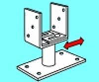 Pfostenträger auf Beton 80-160 MM seitlich verstellbar 170 MM