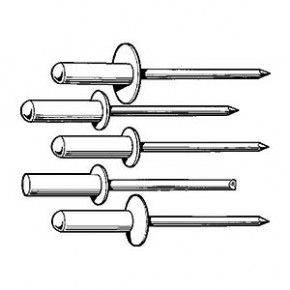 Blindniete Alu / Stahl 100 Stück 3 x 8